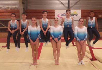 Résultats – Championnat départemental par équipes Performance & Championnat départemental n°2 Fédéral A GAM/GAF – Vandoeuvre